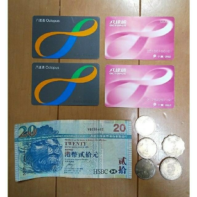 るるぶ香港マカオ '19 超ちいサイズ、オクトパスカード等のセット チケットの乗車券/交通券(その他)の商品写真