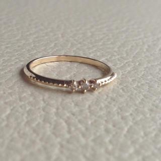 エテ(ete)の【雪様専用】ete K10 華奢 ピンキーリング ダイヤモンド 美品(リング(指輪))
