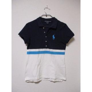ラルフローレン(Ralph Lauren)のラルフローレン スポーツ ビッグホース ボーダー 鹿の子ポロシャツ M(ポロシャツ)