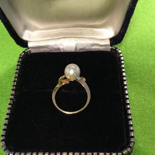 14金 14K 真珠 パール 指輪 リング 4号 〜 5号(リング(指輪))