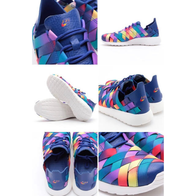 NIKE(ナイキ)のNIKE ROSHERUN WOVEN PRM ローシランプレミアム レインボー レディースの靴/シューズ(スニーカー)の商品写真