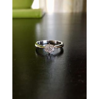 K18WGダイヤモンドリング 計0.22カラット(リング(指輪))