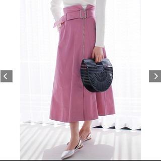 レディメイド(LADY MADE)のladymade フロントzipスカート(ロングスカート)
