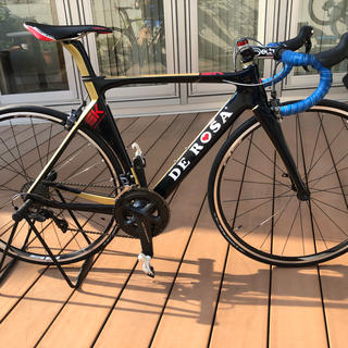 デローザ ピニンファリーナ SK JAPAN LTD 50 紺/金 アルテ 美品(自転車本体)