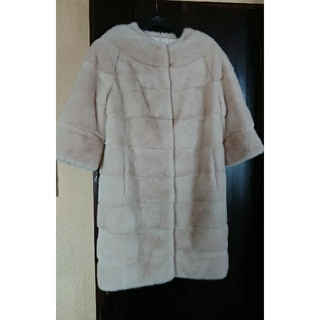 新品同様◆豪華二枚襟仕立て高級ミンクファーコート◆(毛皮/ファーコート)