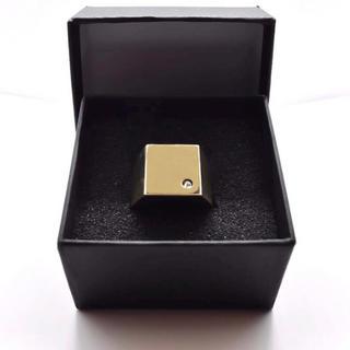 マルタンマルジェラ(Maison Martin Margiela)の▪︎Uimp▪︎ gold signetring メンズリング スクエアリング(リング(指輪))