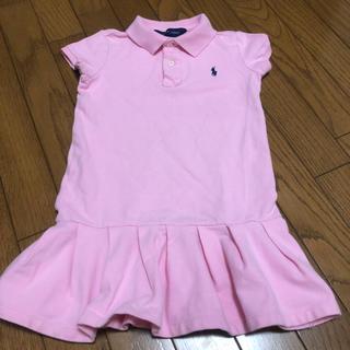 ラルフローレン(Ralph Lauren)のラルフローレン ポロシャツ ワンピース 115 ピンク(ワンピース)