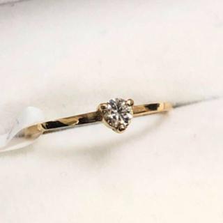 ダイヤモンドリング 0.10ct  k18YG(リング(指輪))