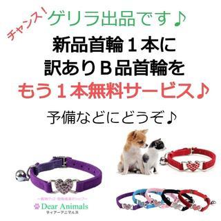 猫用首輪 ねこ首輪 小型犬用首輪 訳ありB品首輪を1本あげます♪ 006(猫)