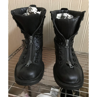 イサムカタヤマバックラッシュ(ISAMUKATAYAMA BACKLASH)の⭐️正規品 バックラッシュ フロントジップブーツ 美品⭐️(ブーツ)