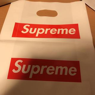 シュプリーム(Supreme)のsupreme ショッパー ステッカー 2枚セット(ショップ袋)