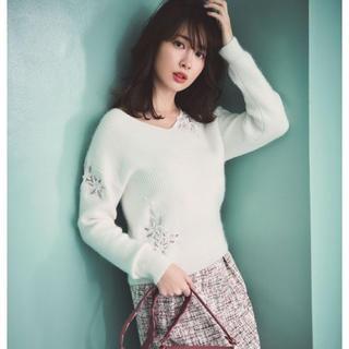 リランドチュール(Rirandture)の新品同様 リランドチュール  刺繍ニットプルオーバートップスワンピーススカート (ニット/セーター)
