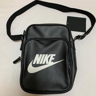 ナイキ(NIKE)の新品 ナイキ NIKE 合皮  ショルダー バッグ ブラック 4L 黒(ショルダーバッグ)