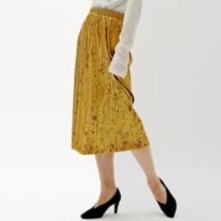 ジーユー(GU)のGU クラッシュベロアプリーツスカート(ロングスカート)