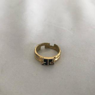クレージュ(Courreges)の本物クレージュcourregesリング指輪ロゴパーティー結婚式ドレス金ゴールド(リング(指輪))
