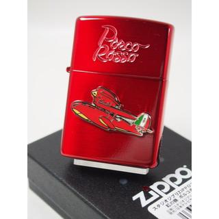 ジッポー(ZIPPO)のZippo 紅の豚 ポルコ ロッソ 赤 飛行機 メタル NZ-24 /宮崎駿(タバコグッズ)