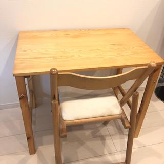 ムジルシリョウヒン(MUJI (無印良品))の無印良品 折りたたみ チェア & 机 セット(折たたみテーブル)
