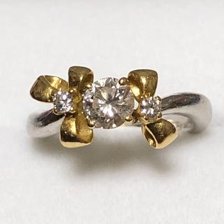 k18 プラチナ ダイヤモンド リング(リング(指輪))