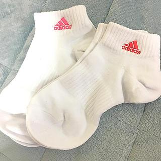 アディダス(adidas)の【新品未使用】靴下 ソックス 2枚セット ピンク 赤 【アディダス】(ソックス)