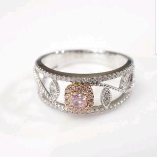 ♡お花のモチーフピンクダイヤモンドリング(リング(指輪))