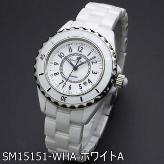 サルバトーレマーラ(Salvatore Marra)の新品 国内正規品 サルバトーレマーラ 腕時計 レディース 白 セラミック (腕時計)