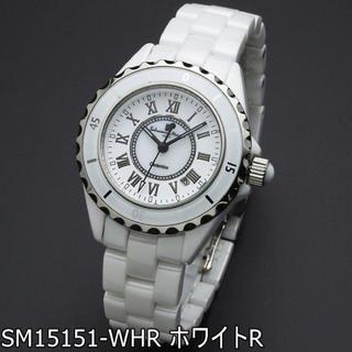 サルバトーレマーラ(Salvatore Marra)の国内正規品 サルバトーレマーラ 腕時計 レディース 白 セラミック ローマ数字(腕時計)