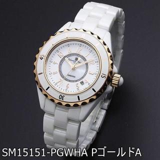 サルバトーレマーラ(Salvatore Marra)の国内正規品 サルバトーレマーラ 腕時計 レディース 白 セラミック Pゴールド(腕時計)