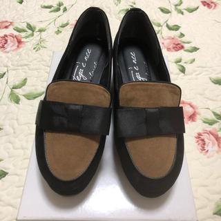 ダブルクローゼット(w closet)のダブルクローゼット バイカラーローファー(ローファー/革靴)