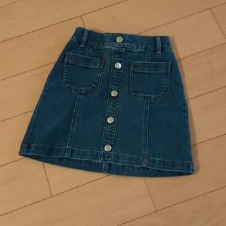 ジーユー(GU)のGU UNIQLO ユニクロ デニム スカート 110cm(スカート)