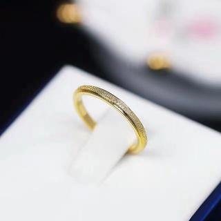 キラキラステンレスリング シンプル 華奢 アレルギー対応 指輪 重ね付け 綺麗(リング(指輪))