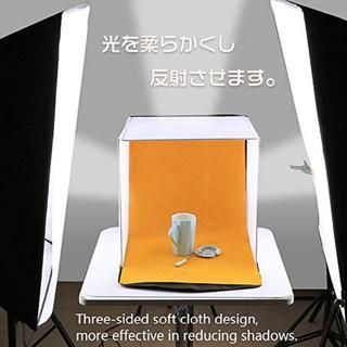 撮影ボックス ソフトボックス 簡易スタジオ 折りたたみ携帯型 ミニ 小物、ビデオ(その他)