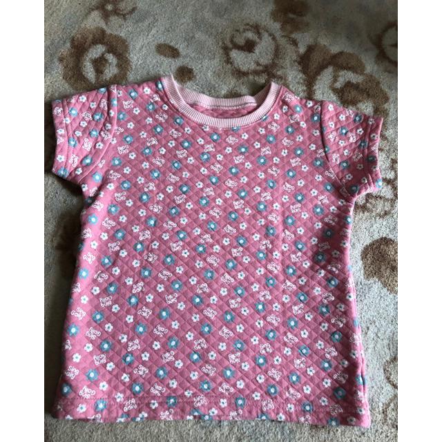 ベルメゾン(ベルメゾン)の半袖キルトシャツ110 キッズ/ベビー/マタニティのキッズ服 女の子用(90cm~)(下着)の商品写真