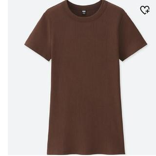 ユニクロ(UNIQLO)のUNIQLO スピーマコットンリブクルーネックT(Tシャツ(半袖/袖なし))