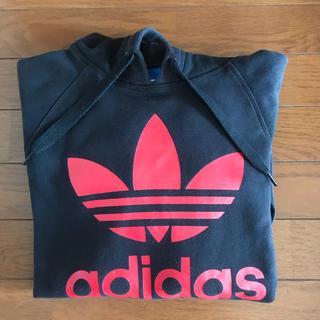 アディダス(adidas)のadidas アディダス パーカー  L 黒  ブラック(パーカー)