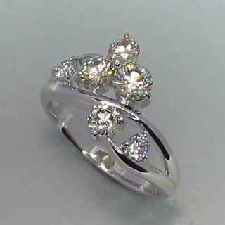 1.15ct ダイヤモンド ナチュラルファンシーカラー リング Pt900(リング(指輪))