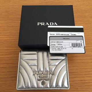 3e54b266bb3e ... ライーンストーンスタッズ長財布1M1132/年末セール‼ 」に近い商品. PRADA - 美品 PRADA プラダ シルバー 財布