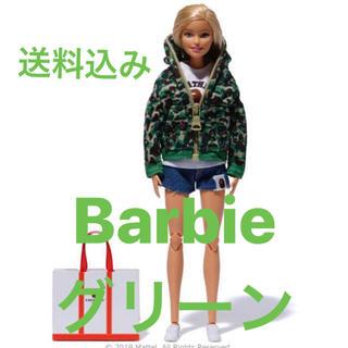 アベイシングエイプ(A BATHING APE)のBarbie × BAPE バービー人形 グリーン カモ シャークパーカー(ぬいぐるみ/人形)