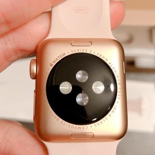 アップルウォッチ(Apple Watch)の専用 即日発送 美品 Apple Watch series3 ローズ(その他)