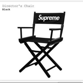 シュプリーム(Supreme)のBlack supreme Director's Chair(折り畳みイス)