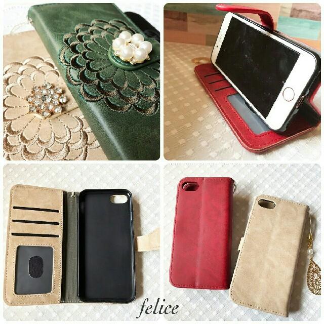 7c1f5531e3 新作】iphone6/6s/7/8 plus 手帳型iphoneケース 花柄 の通販 by felice ...