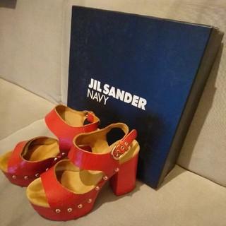 ジルサンダー(Jil Sander)の最終値下げ★ JIL SANDER NAVY ジルサンダー ヒールパンプス(ハイヒール/パンプス)