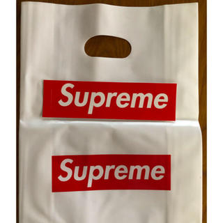 シュプリーム(Supreme)のsupreme ショッパーステッカー大:3小:5 状態非常に良い(ショップ袋)