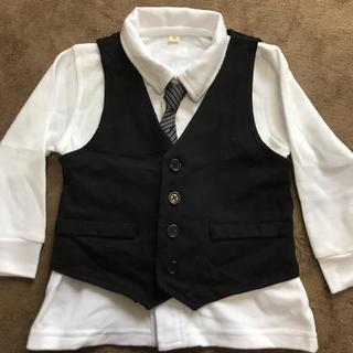 c057794e96d6f 「男の子 フォーマルカーディガン110」に近い商品. 西松屋 - 入園式用に シャツ、ベスト、ネクタイ 90
