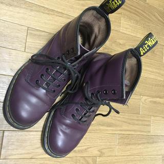 ドクターマーチン(Dr.Martens)のドクターマーチン 8ホール ブーツ パープル Dr.Martens(ブーツ)