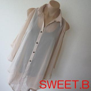 スウィートビー(SWEET.B)のSWEET.B シースルーブラウス(シャツ/ブラウス(半袖/袖なし))