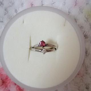 ヨンドシー(4℃)の4℃ ピンクトルマリンとジルコニアのシルバーリング(リング(指輪))