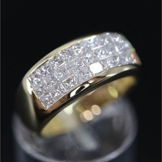 K18 プリンセスカット 1.43ct  ダイヤモンド リング(リング(指輪))