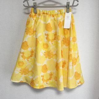 【新品未使用】Lugnoncure  花柄スカートSサイズ(ひざ丈スカート)