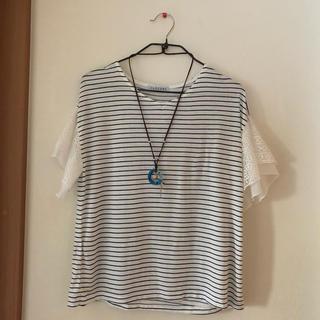 シマムラ(しまむら)のトップス ボーダー Tシャツ(カットソー(半袖/袖なし))