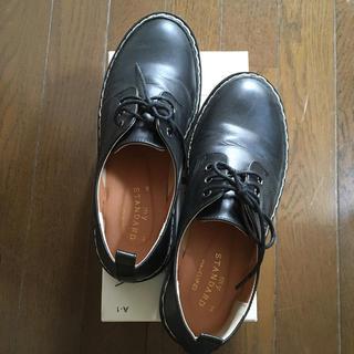 スタディオクリップ(STUDIO CLIP)のstudioCLIP フェイクレザーオックスフォードシューズ L黒(ローファー/革靴)